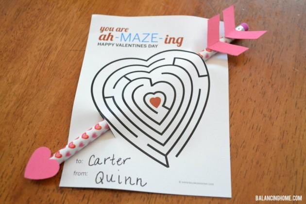 valentine maze printable
