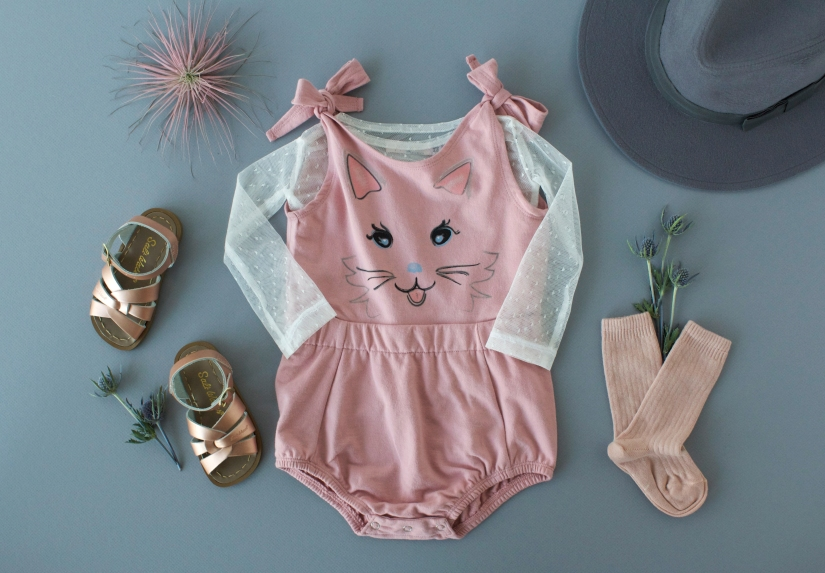 Kitty-Face-Tie-Romper-Flat