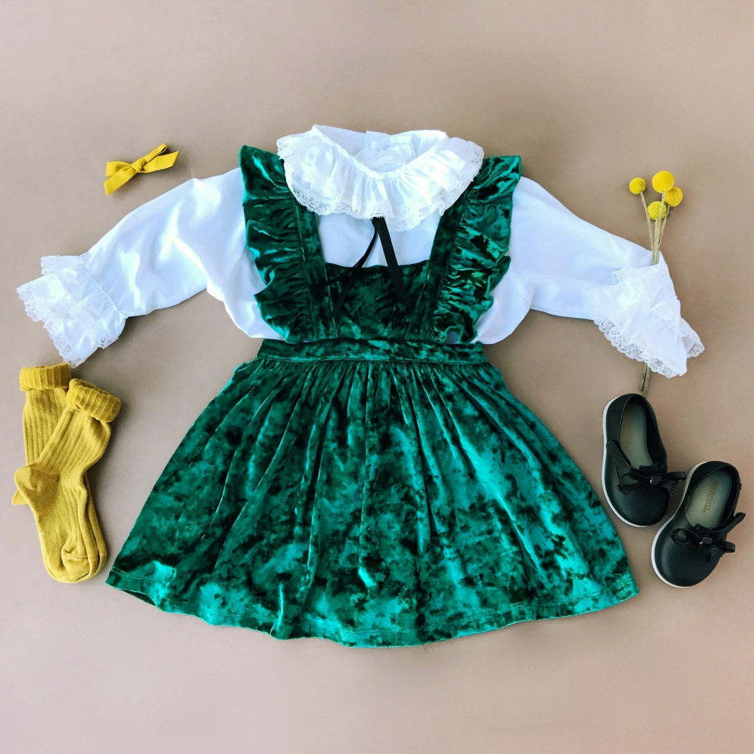 Paush Hunter Green Pinafore
