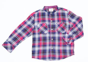 Fore Axel and Hudson – LS Plaid Shirt in Red/Navy $47