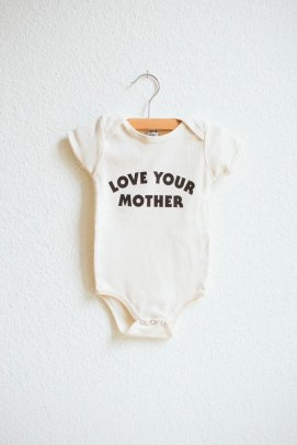 Bee and the Fox - Love Your mother Onesie $25