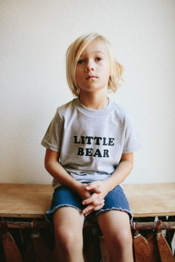 Bee and the Fox - Little Bear Tee $25