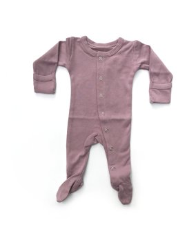 Lovedbaby – Organic Footed Overall in Mauve $26
